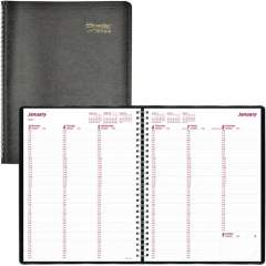 Brownline Soft Cover Twin-wire Weekly Planner (CB950BLK)