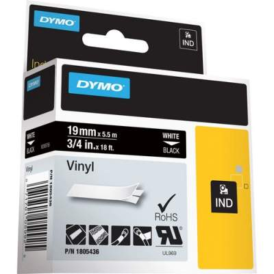 """Newell Rubbermaid Dymo Colored 3/4"""" Vinyl Label Tape (1805436)"""