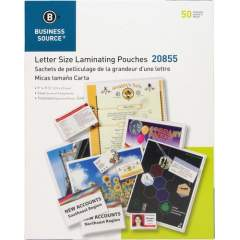 Business Source 5 mil Clear Laminating Pouches (20855)