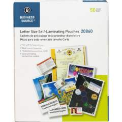 Business Source Clear Laminating Document Pouches (20860)