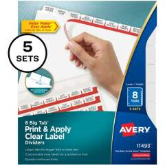 Avery Big Tab Index Maker Index Divider (11493)
