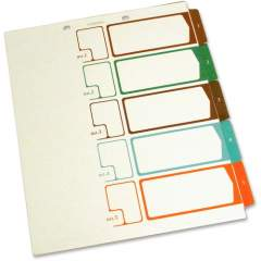 SJ Paper Speedex Letter Size Side Tab TOC Dividers (S05175)