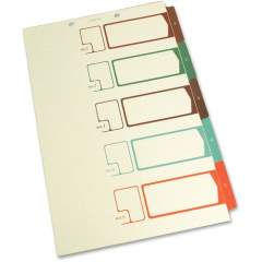 SJ Paper Speedex Legal Size Side Tab TOC Dividers (S05275)