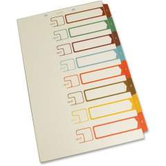 SJ Paper Speedex Legal Size Side Tab TOC Dividers (S05278)