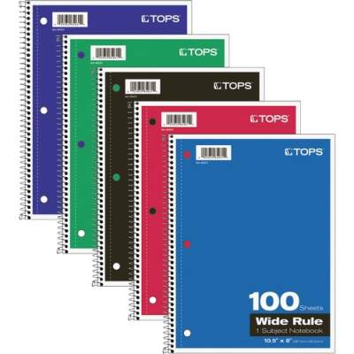 TOPS Wide Rule 1-subject Spiral Notebook (65031)