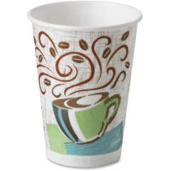 Dixie PerfecTouch Insulated Paper Hot Coffee Cups by GP Pro (5342CDPK)