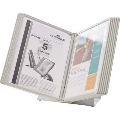 DURABLE VARIO Antimicrobial Desktop Reference Display System (535810)