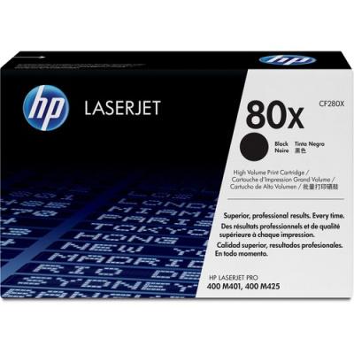 HP 80X High Yield Black Original LaserJet Toner Cartridge (CF280X)