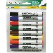 Dixon Wedge Tip Dry Erase Markers (92180)
