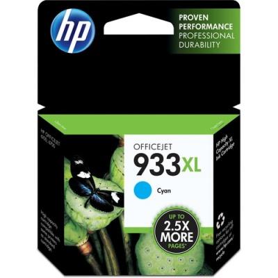 HP 933XL High Yield Cyan Original Ink Cartridge (CN054AN)