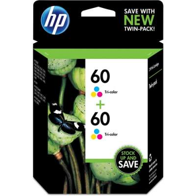 HP 60 2-pack Tri-color Original Ink Cartridges (CZ072FN)