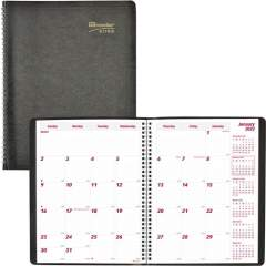 Brownline Soft Cover 14-Month Monthly Planner (CB1262BLK)