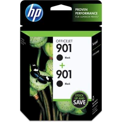 HP 901 2-pack Black Original Ink Cartridges (CZ075FN)