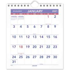 AT-A-GLANCE Mini Wall/Desk Monthly Calendar (PM528)