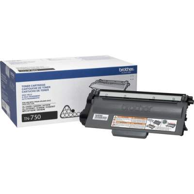 Brother Genuine TN750 High Yield Mono Laser Toner Cartridge