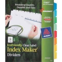 Skilcraft 8-Tab Set Index Maker Dividers (6006970)