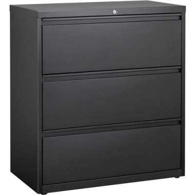 Lorell 3-Drawer Black Lateral Files (88028)