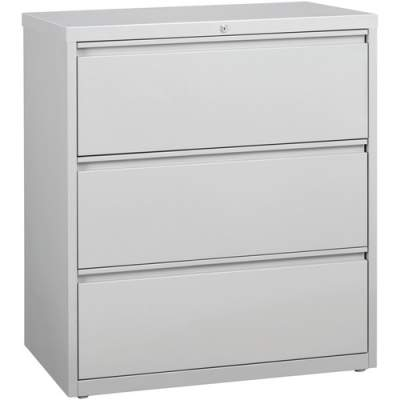 Lorell 3-Drawer Light Gray Lateral Files (88029)