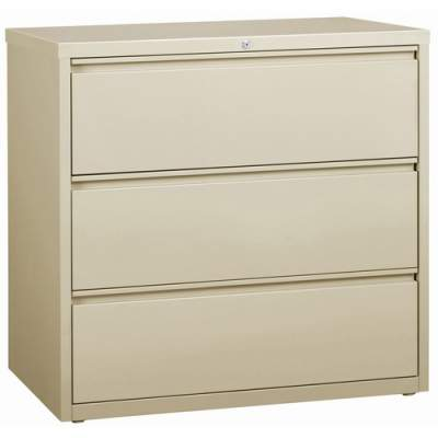 Lorell 3-Drawer Putty Lateral Files (88030)