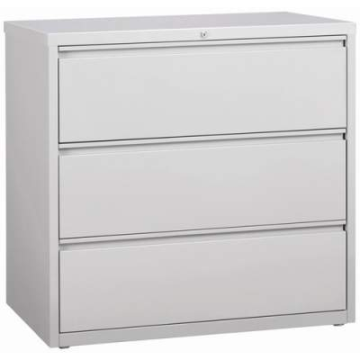 Lorell 3-Drawer Light Gray Lateral Files (88032)