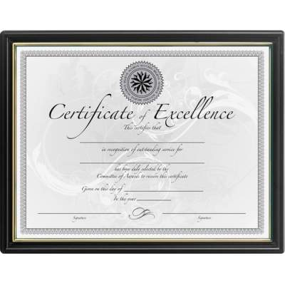 Burnes Home Accents DAX Black & Gold Certificate Frames (N1188N5)