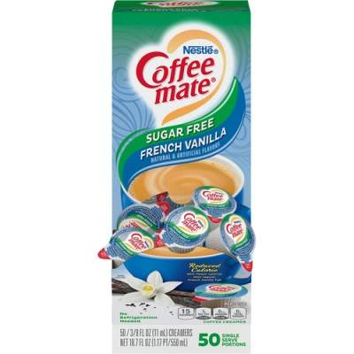 Nestle Professional Nestle Coffee-mate Coffee Creamer Sugar-Free French Vanilla - liquid creamer singles (91757)