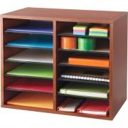 Safco Adjustable 12-Slot Wood Literature Organizer (9420CY)