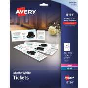 Avery Blank Printable Perforated Raffle Tickets - Tear-Away Stubs (16154)
