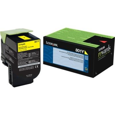 Lexmark Unison 801Y Toner Cartridge (80C10Y0)