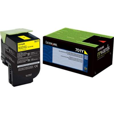 Lexmark 701Y Toner Cartridge (70C10Y0)