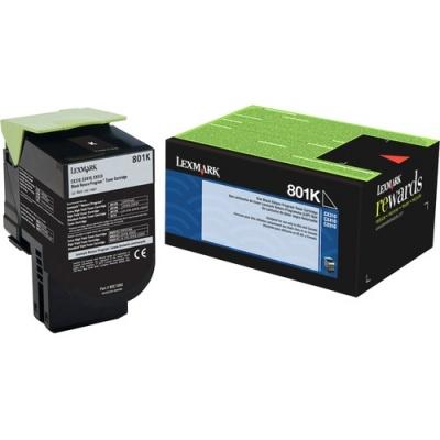 Lexmark Unison 801K Toner Cartridge (80C10K0)