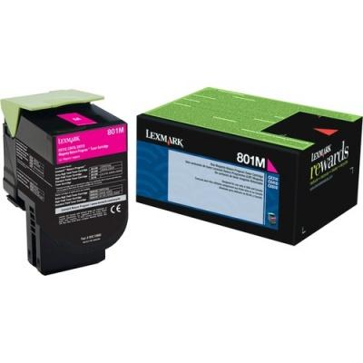 Lexmark Unison 801M Toner Cartridge (80C10M0)