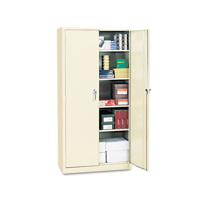 "Alera Assembled 72"" High Storage Cabinet, w/Adjustable Shelves, 36w x 18d, Putty (ALECM7218PY)"