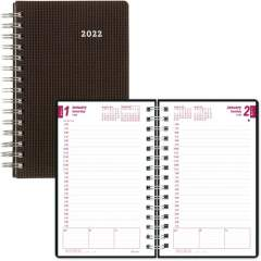 Brownline DuraFlex Daily Appointment Book / Monthly Planner (CB634VBLK)