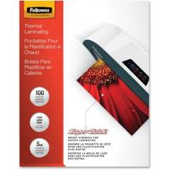 Fellowes Glossy SuperQuick Pouches - Letter, 5 mil, 100 pack (5223001)