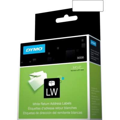 "Newell Rubbermaid Dymo LW Return Address Labels 3/4"" x 2"" (30330)"
