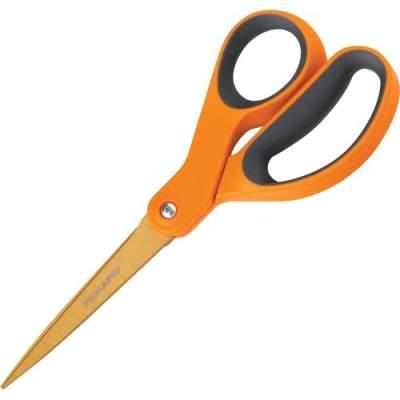 """Fiskars Ergonomic Handles 8"""" Titanium Scissors (01004244J)"""