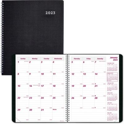 Dominion Blueline Brownline Duraflex 14-Month Monthly Planner (CB1200VBLK)