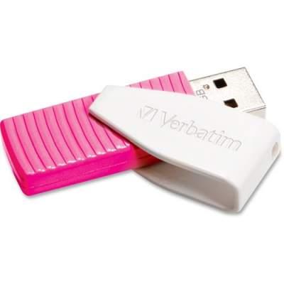 Verbatim 16GB Swivel USB Flash Drive - Hot Pink (49813)