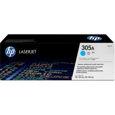 HP 305A Cyan Original LaserJet Toner Cartridge for US Government (CE411AG)