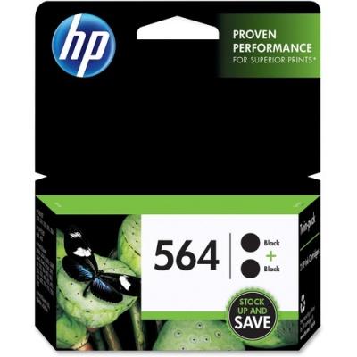 HP 564 2-pack Black Original Ink Cartridges (C2P51FN)