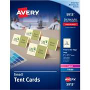 "Avery Small Tent Cards, Uncoated, Ivory, Two-Sided Printing, 2"" x 3-1/2"", 160 Cards (5913)"