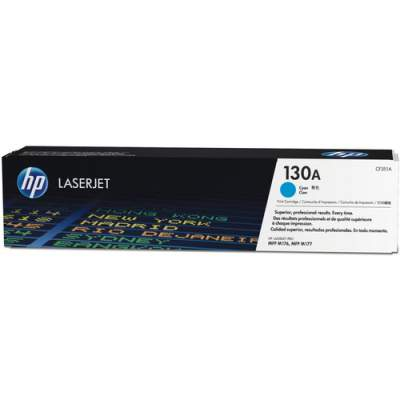 HP 130A Cyan Original LaserJet Toner Cartridge (CF351A)