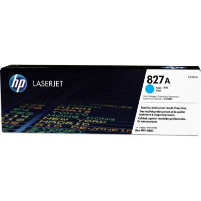 HP 827A Cyan Original LaserJet Toner Cartridge (CF301A)