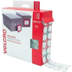 Velcro Brand Sticky Back Circles, 3/4in Circles, White, 200ct (91824)