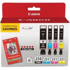 Canon PGI-250/CLI-251 Original Ink Cartridge/Paper Kit (250BKCLI251)
