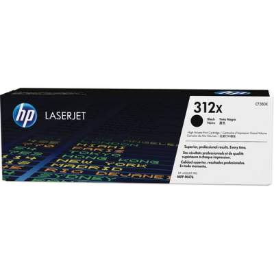 HP 312X High Yield Black Original LaserJet Toner Cartridge (CF380X)