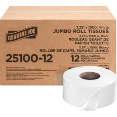 Genuine Joe 2-ply Jumbo Roll Dispnsr Bath Tissue (2510012)