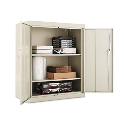 "Alera Assembled 42"" High Storage Cabinet, w/Adjustable Shelves, 36w x 18d, Putty (ALECM4218PY)"