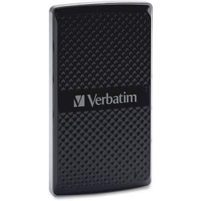 Verbatim 256GB Vx450 External SSD, USB 3.0 with mSATA Interface - Black (47681)